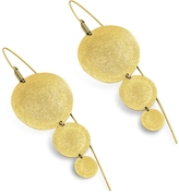 Stefano Patriarchi Golden Silver Etched Round Triple Drop Earrings
