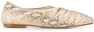 Masscob Asis snakeskin print shoes