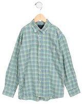 Oscar de la Renta Boys' Gingham Shirt
