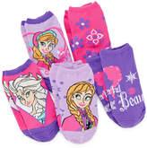 JCPenney FROZEN Disney Frozen 5-pk. No-Show Socks - Girls