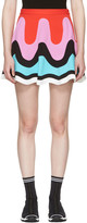 Emilio Pucci Multicolor Colorblock Wave Miniskirt