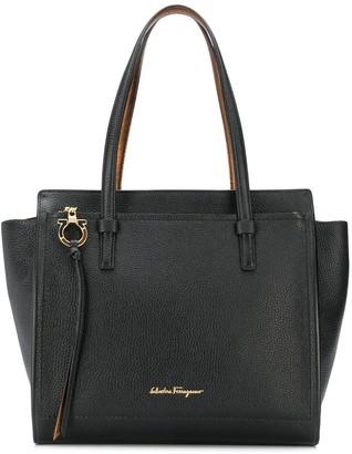 Salvatore Ferragamo Logo Plaque Tote Bag