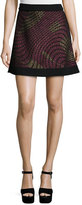M Missoni Metallic Web Flared Skirt