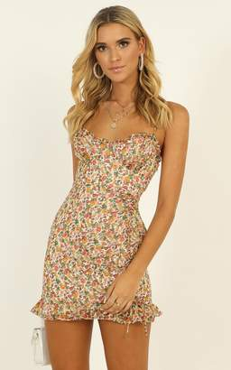 Showpo My Angel Ruched Mini Dress in floral print - 8 (S) The Summer