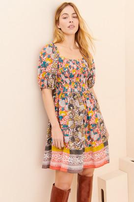 Velvet by Graham and Spencer Taria Puff-Sleeved Mini Dress