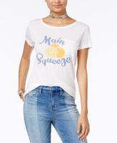 Hybrid Juniors' Main Squeeze Graphic Pocket T-Shirt