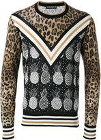Dolce & Gabbana pineapple leopard print jumper