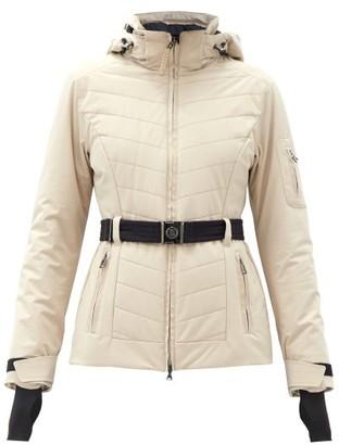 Bogner Gitta-t Hooded Chevron-quilted Soft-shell Jacket - Beige
