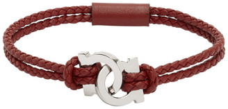 Salvatore Ferragamo Red Woven Gancio Bracelet