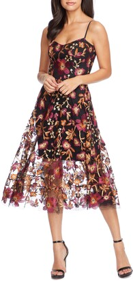 Dress the Population Uma Floral Embroidered Lace Dress