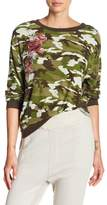 Poof Embroidered Camo Long Sleeve Sweater
