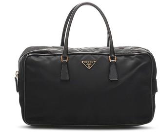 Prada Pre-Owned Triangle Logo Tote Bag