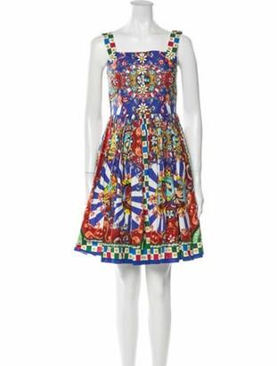 Dolce & Gabbana Printed Mini Dress Purple