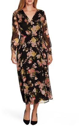 Vince Camuto Women's Casual Dresses RICH - Rich Black Beautiful Blooms Maxi Dress - Women & Juniors