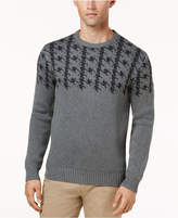 Ben Sherman Men's Dogtooth Jacquard Sweater