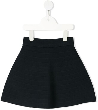 Emporio Armani Kids ribbed A-line skirt