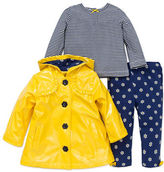 Little Me Baby Girls Three-Piece Jacket Top and Pants Set