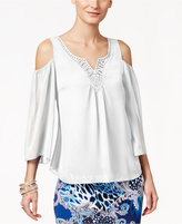 Thalia Sodi Solid Cold-Shoulder Top, Only at Macy's