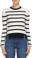 Whistles Breton Striped Button-Cuff Knit Top