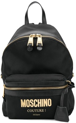 Moschino Logo Print Backpack