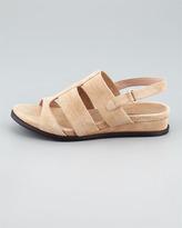 Taryn Rose Shirley Stretchy Slingback Sandal, Beige