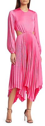 A.L.C. Naples Cutout Pleated Midi Dress