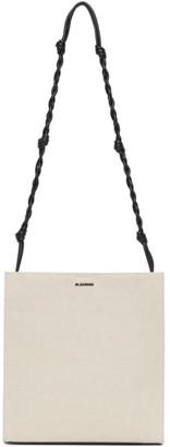 Jil Sander Off-White Canvas Medium Tangle Bag