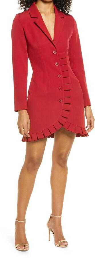 Thumbnail for your product : Bebe Long Sleeve Crepe Blazer Dress