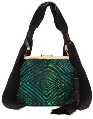 BIENEN-DAVIS 6am Metallic Brocade Handbag - Green Multi