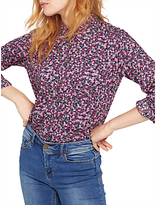 Joules Lucie Printed Shirt, Khaki Berry Ditsy