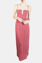 Sage Crimson Maxi Dress