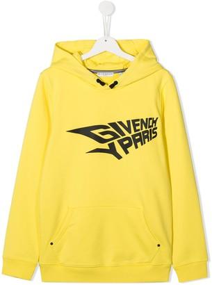Givenchy Kids Logo-Print Long-Sleeved Hoodie