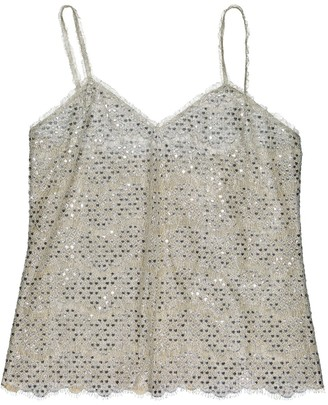 Chanel Silver Polyester Tops