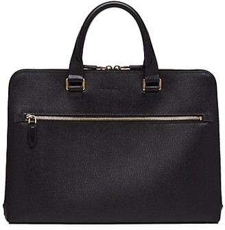 Salvatore Ferragamo Revival Single-Gusset Leather Briefcase