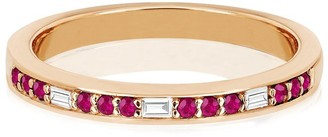 Ef Collection 14ct Rose Gold Eternity Ring