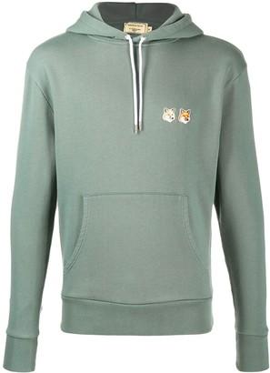 MAISON KITSUNÉ Fox Head patch drawstring hoodie