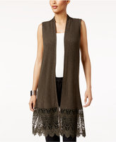August Silk Lace-Hem Sweater Vest