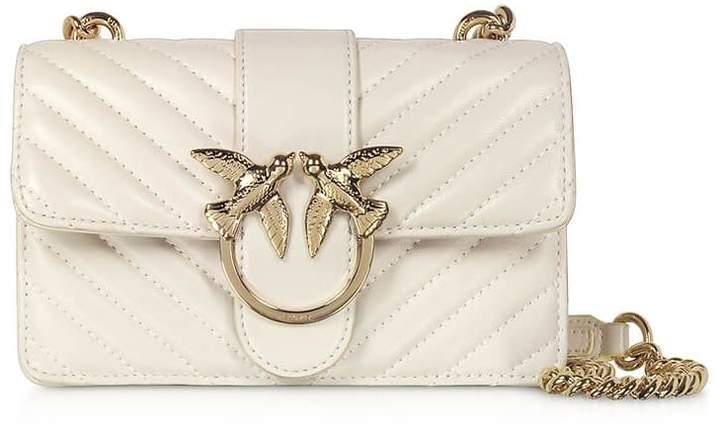 Pinko Love Mini Mix White Crossbody Bag