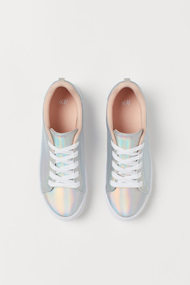 H&M Shimmering metallic trainers