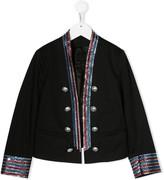 Balmain Kids embellished trim military jacket
