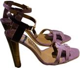 Salvatore Ferragamo Purple Patent leather Sandals