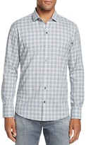Zachary Prell Farbstein Windowpane Check Slim Fit Button Down Shirt