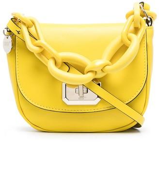 Red(V) Chain-Detail Crossbody Bag