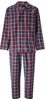 John Lewis Ashford Check Brushed Cotton Pyjamas, Red/blue