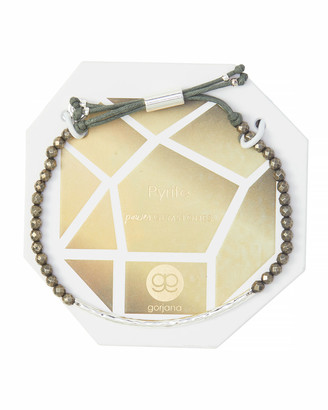 Gorjana Power Gemstone Pyrite Bracelet for Strength, Silver