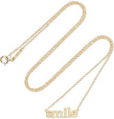 Jennifer Meyer Smile 18-karat Gold Necklace - one size