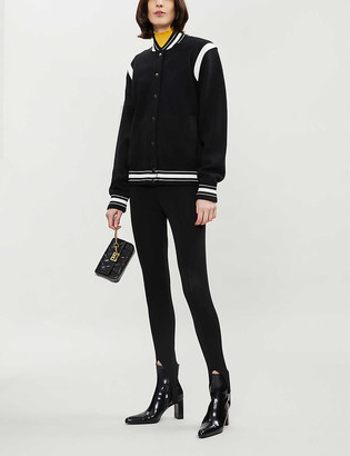 Givenchy Logo-applique wool jacket