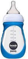 Joovy Boob Glass Bottle and Sleeve, Blue, 8 Ounce by
