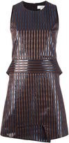 Carven high shine striped dress - women - Polyester/Acetate/Viscose/Metallized Polyester - 36