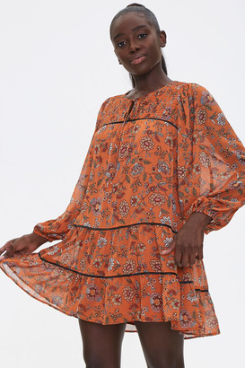 Forever 21 Floral Print Peasant Dress